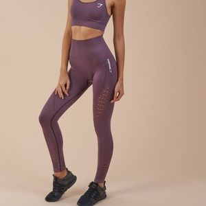 Gymshark Energy Seamless Purple Wash Set